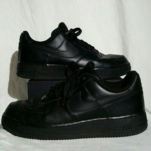 Nike Air Force 1 AF1 Low Black/Black Size 8.5